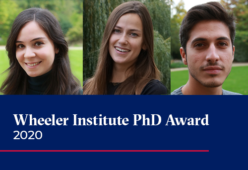 Wheeler Institute PhD Award 2020