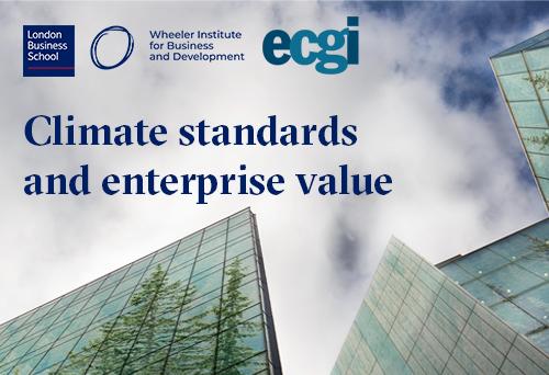 Climate standards and enterprise value